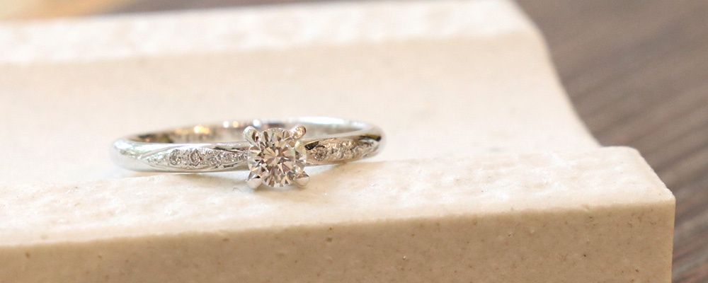 手作り婚約指輪 彫金コース