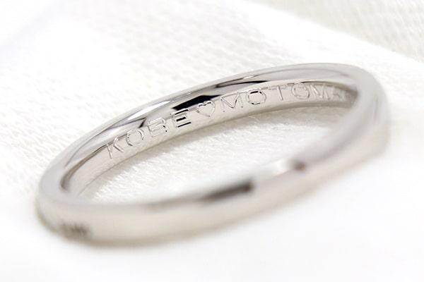 手作り結婚指輪・婚約指輪・シルバーペアリングの刻印