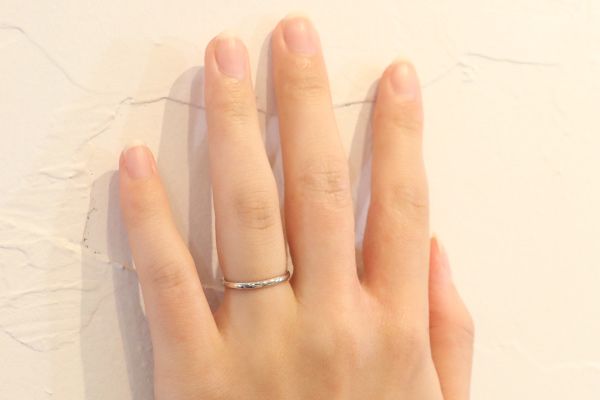 手作りシルバーペアリングの選べるリング幅:2mm